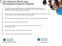 Next Steps For Mobile App Development Proposal Template Ppt Powerpoint Design Ideas