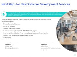 Next Steps For New Software Development Services Initial Payment Ppt Powerpoint Presentation Slide