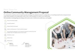 Next Steps For Online Community Management Proposal Contact Ppt Powerpoint Slides