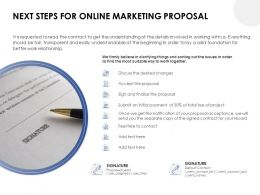 Next Steps For Online Marketing Proposal Ppt Powerpoint Presentation Inspiration