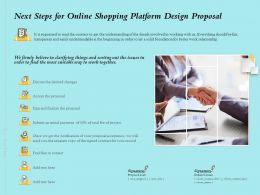 Next Steps For Online Shopping Platform Design Proposal Ppt Powerpoint Presentation Icon