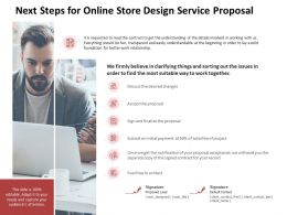 Next Steps For Online Store Design Service Proposal Ppt Powerpoint Outline