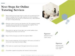 Next Steps For Online Tutoring Services Ppt Powerpoint Presentation Gallery Visual Aids