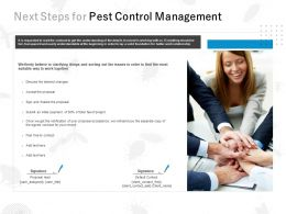 Next Steps For Pest Control Management Ppt Powerpoint Presentation File Format