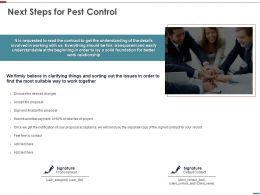 Next Steps For Pest Control Ppt Powerpoint Presentation Ideas