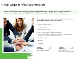 Next Steps For Pest Exterminators Ppt Powerpoint Presentation Show Brochure