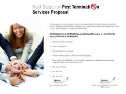 Next Steps For Pest Termination Services Proposal Ppt Powerpoint Presentation File Graphics