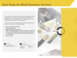 Next Steps For Retail Business Services Relationships Ppt Icon