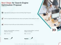 Next Steps For Search Engine Optimization Proposal Ppt Powerpoint Presentation Graphics