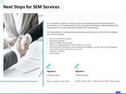 Next Steps For SEM Services Ppt Powerpoint Presentation Pictures Slide Download
