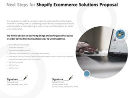Next Steps For Shopify Ecommerce Solutions Proposal Ppt Powerpoint Presentation Icon Visual Aids