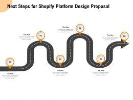 Next Steps For Shopify Platform Design Proposal A821 Ppt Powerpoint Presentation Pictures Structure