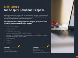 Next Steps For Shopify Solutions Proposal Ppt Powerpoint Presentation