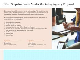Next Steps For Social Media Marketing Agency Proposal Ppt Powerpoint Presentation Summary