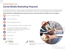Next Steps For Social Media Marketing Proposal Ppt Powerpoint Presentation Layouts Picture