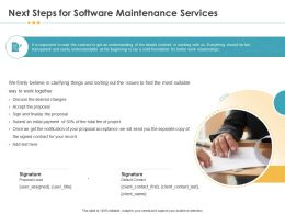 Next Steps For Software Maintenance Services Changes Ppt Example File