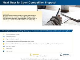 Next Steps For Sport Competition Proposal Ppt Powerpoint Presentation Download