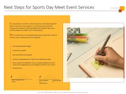 Next Steps For Sports Day Meet Event Services Ppt Powerpoint Presentation Background