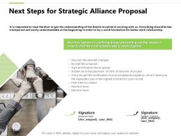 Next Steps For Strategic Alliance Proposal Finalize Ppt Powerpoint Slides