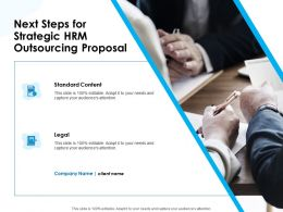 Next Steps For Strategic HRM Outsourcing Proposal Ppt Example File