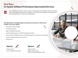 Next Steps For System Software Performance Improvement Services Ppt Inspiration