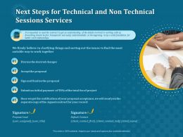 Next Steps For Technical And Non Technical Sessions Services Ppt File Brochure