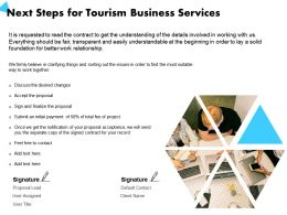 Next Steps For Tourism Business Services Desired Changes Ppt Powerpoint Presentation Templates