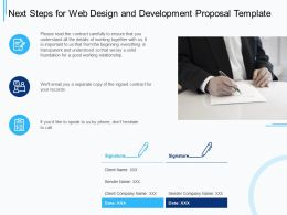 Next Steps For Web Design And Development Proposal Template Ppt Powerpoint Presentation Show