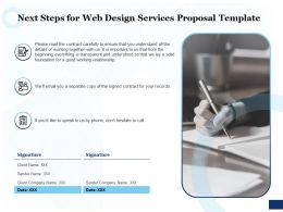 Next Steps For Web Design Services Proposal Template Ppt Powerpoint Designs