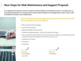 Next Steps For Web Maintenance And Support Proposal Ppt Powerpoint Presentation Icon Show