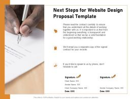 Next Steps For Website Design Proposal Template Ppt Powerpoint Image