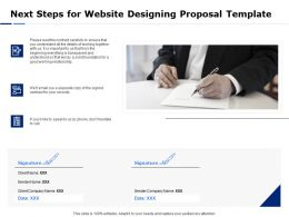Next Steps For Website Designing Proposal Template Ppt Powerpoint Presentation Show