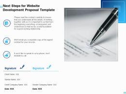 Next Steps For Website Development Proposal Template Ppt Powerpoint Presentation Gallery Deck