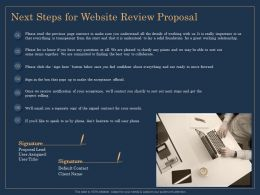 Next Steps For Website Review Proposal Ppt Icon