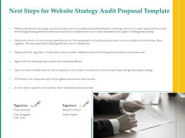 Next Steps For Website Strategy Audit Proposal Template Ppt Powerpoint Icon