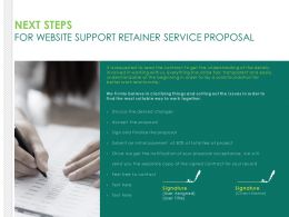 Next Steps For Website Support Retainer Service Proposal Ppt Topics