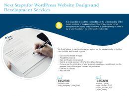 Next Steps For Wordpress Website Design And Development Services Ppt Powerpoint Portfolio