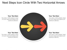Next Steps Icon Circle With Two Horizontal Arrows