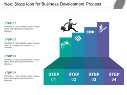 Next Steps Icon For Business Development Process