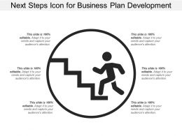Next Steps Icon For Business Plan Development