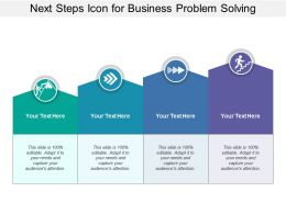 Next Steps Icon For Business Problem Solving