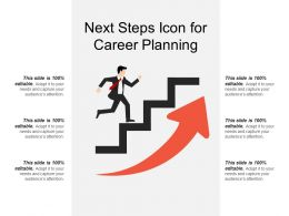 Next Steps Icon For Career Planning