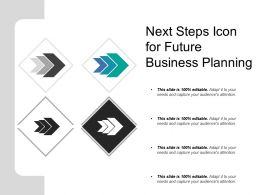 Next Steps Icon For Future Business Planning