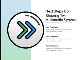 Next Steps Icon Showing Two Multimedia Symbols