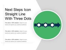 Next Steps Icon Straight Line With Three Dots