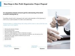 Next Steps In Non Profit Organization Project Proposal Ppt Powerpoint Portfolio