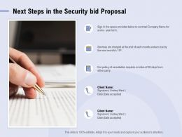 Next Steps In The Security Bid Proposal Ppt Powerpoint Presentation Layouts