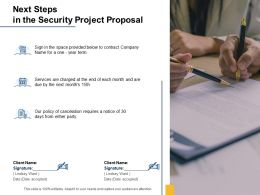 Next Steps In The Security Project Proposal Ppt Powerpoint Presentation Slides
