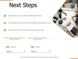Next Steps Management C1287 Ppt Powerpoint Presentation Icon Influencers