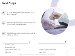 Next Steps Management Ppt Powerpoint Presentation Gallery Outfit